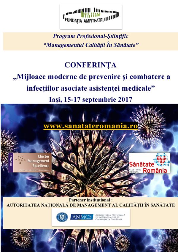 """Continuă înscrierile la Conferința """"Mijloace moderne de prevenire şi combatere a infecţiilor asociate asistenţei medicale"""""""